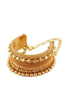 Gold plated wide cuff bracelet