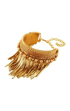 Malleka Gold plated tassel detail bracelet