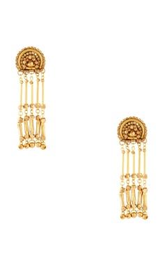 Malleka Gold plated dangling earrings