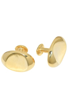 Gold brass handcrafted cufflink