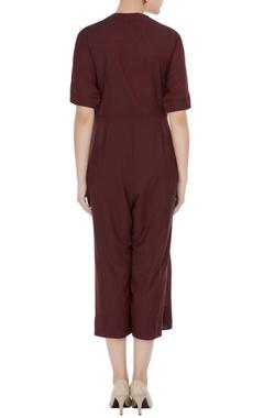 Muga silk jumpsuit with wrap belt