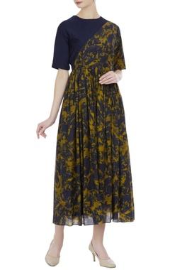 Modal & muga silk maxi dress