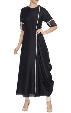 SVA - Sonam and Paras Modi Black kardhana work draped kurta