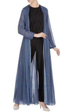 Saaksha & Kinni Batik dyed open style cape