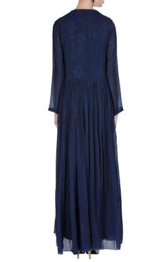 Batik dyed open style cape