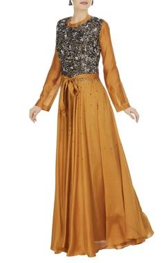 Saaksha & Kinni Chanderi maxi dress with sequin bodice