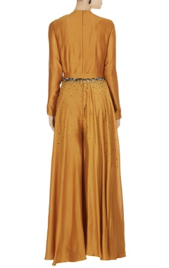 Chanderi maxi dress with sequin bodice