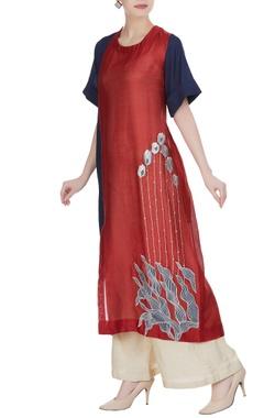 Tulip embroidered tunic
