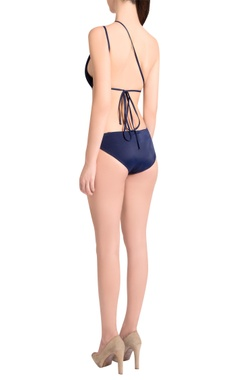 Sapphire italian jersey draped trikini