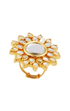 POSH By Rathore Oversized floral statement ring