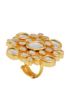 POSH By Rathore Oversized kundan statement ring