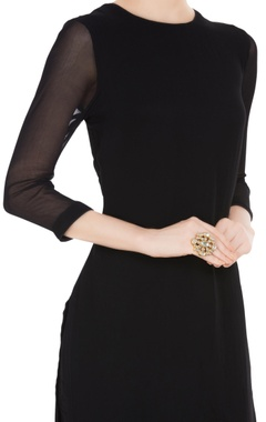 Oversized kundan statement ring