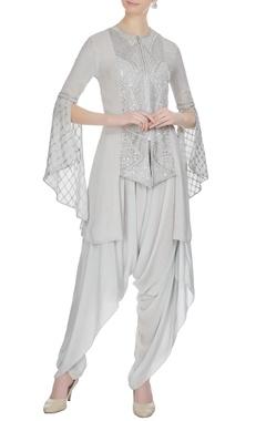 Ritika Mirchandani Grey embroidered kurta with dhoti pants