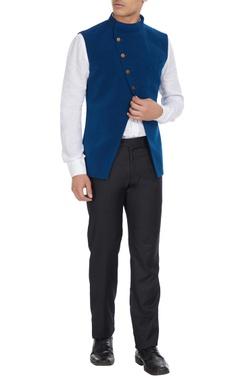 SVA - Sonam and Paras Modi - Men Blue cross-over jacket