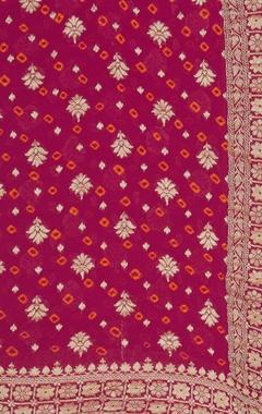 Banarasi georgette floral hand-woven dupatta
