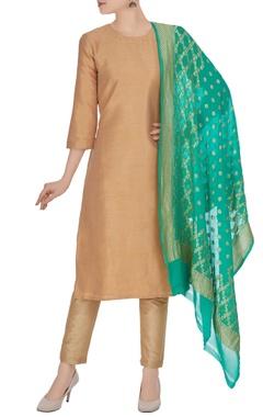 Banarasi georgette hand-woven dupatta