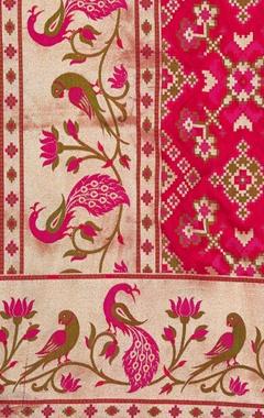 Banarasi silk bird pattern dupatta