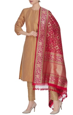 Banarasi silk animal brocade pattern dupatta