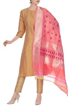 Banarasi silk floral brocade pattern dupatta