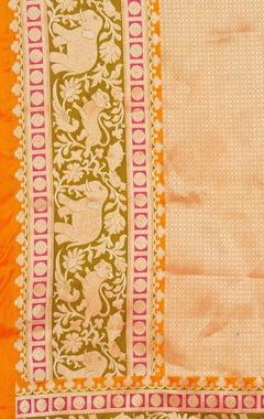 Banarasi silk animal brocade pattern dupatta