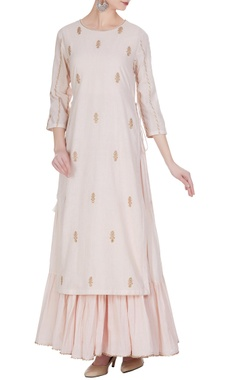 Punit Balana Embroidered kurta with tiered pleated inner.