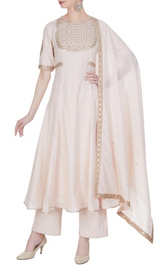 Punit Balana Embroidered Anarkali kurta with pants and dupatta.