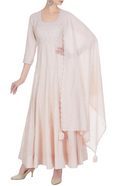 Punit Balana Embroidered anarkali kurta set.