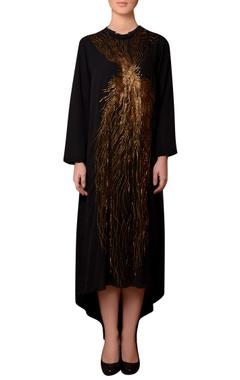 Nitin Bal Chauhan Black viscose georgette bead hand embroidered dress