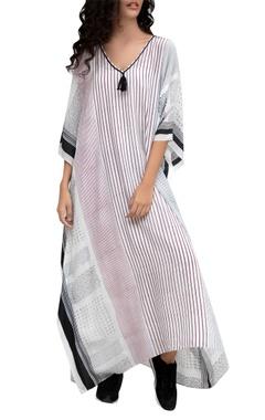 Krishna Mehta White crepe printed tunic