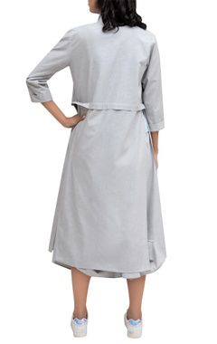 Grey linen solid jacket