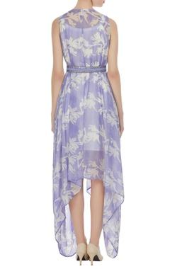 Block printed sleeveless maxi dress