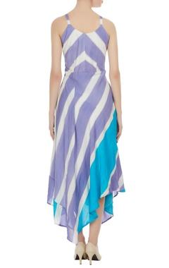 Hand painted asymmetric dress
