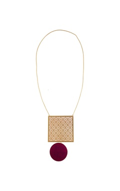 Hand crafted grid pendant necklace