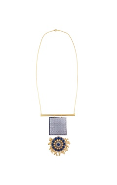 Rectangle filigree pendant necklace