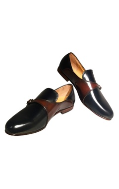 Black leather handcrafted posh loafer