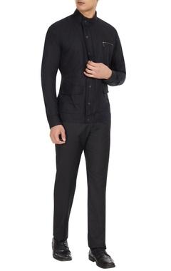 Dhruv Vaish Black cotton-linen shirt