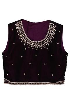 Purple tissue lehenga with choli blouse & dupatta