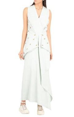 Khadi draped maxi dress