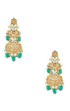 Just Shradha's Pearl & kundan dangling earrings
