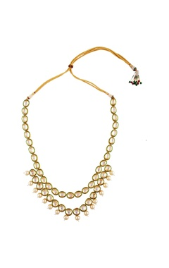 Kundan & pearl tie-up necklace