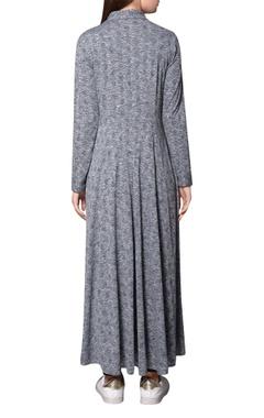 Grey jersey beaded maxi shirt dress