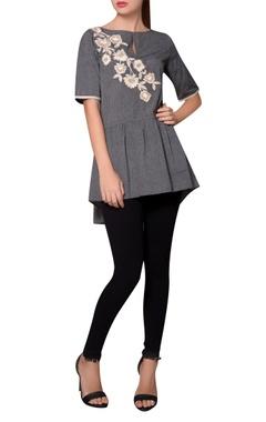 Namrata Joshipura Grey tiered style jersey blouse