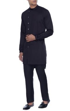 Mr. Ajay Kumar - Men Black kurta style shirt