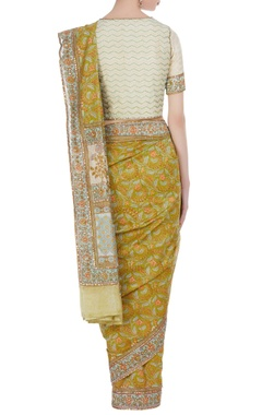 Jaipuri printed saree with gota blouse