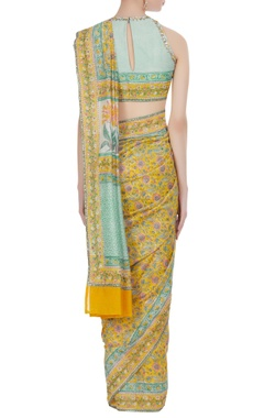 Jaipuri printed chanderi saree with blouse