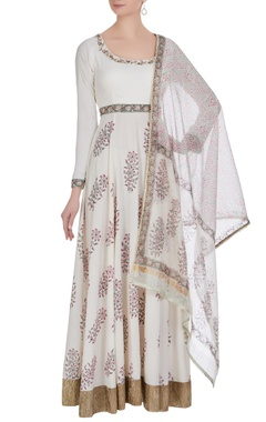 Jaipuri printed anarkali set