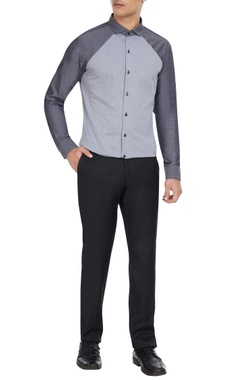 Dhruv Vaish Grey cotton button down shirt
