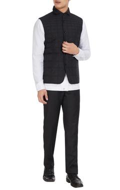 Dhruv Vaish Black quilted nylon waistcoat jacket