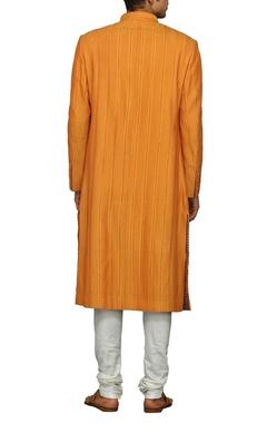 Classic orange sherwani