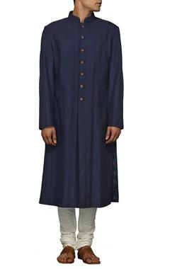 Classic navy blue sherwani